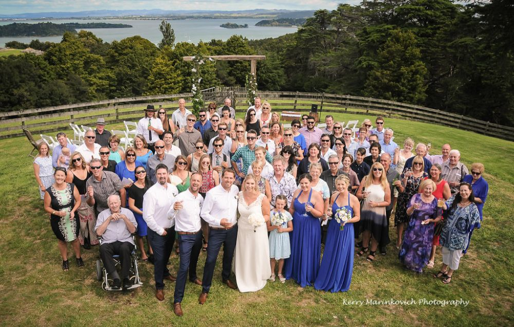 Boutique weddings ceremony at Kauri Villas in Whangarei Heads